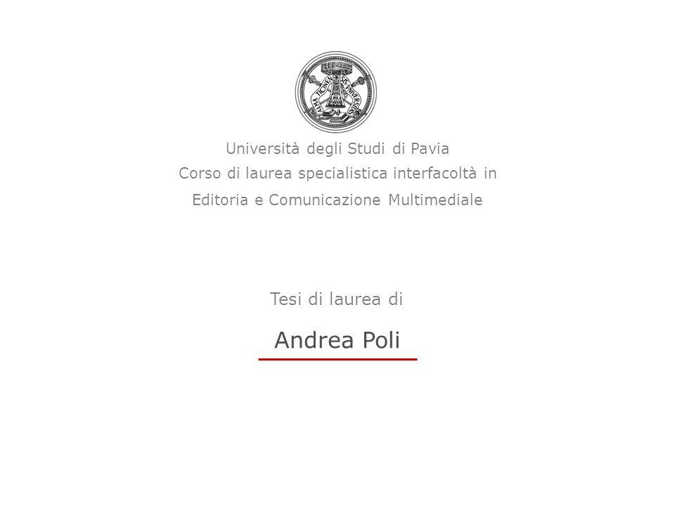 Andrea Poli Tesi di laurea di Università degli Studi di Pavia