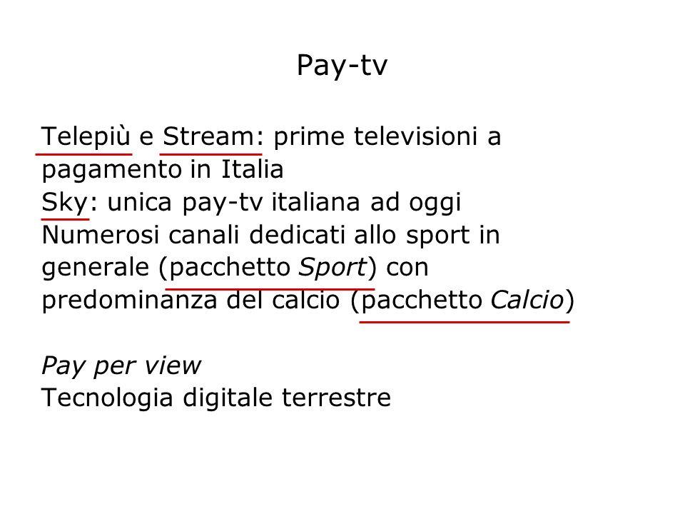 Pay-tv Telepiù e Stream: prime televisioni a pagamento in Italia