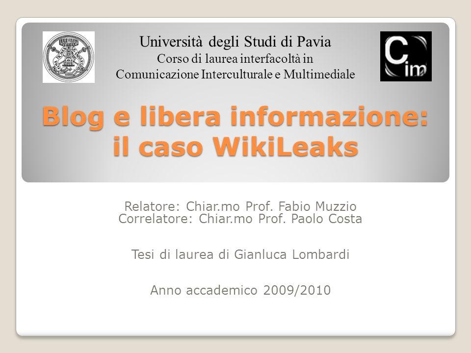 Blog e libera informazione: il caso WikiLeaks