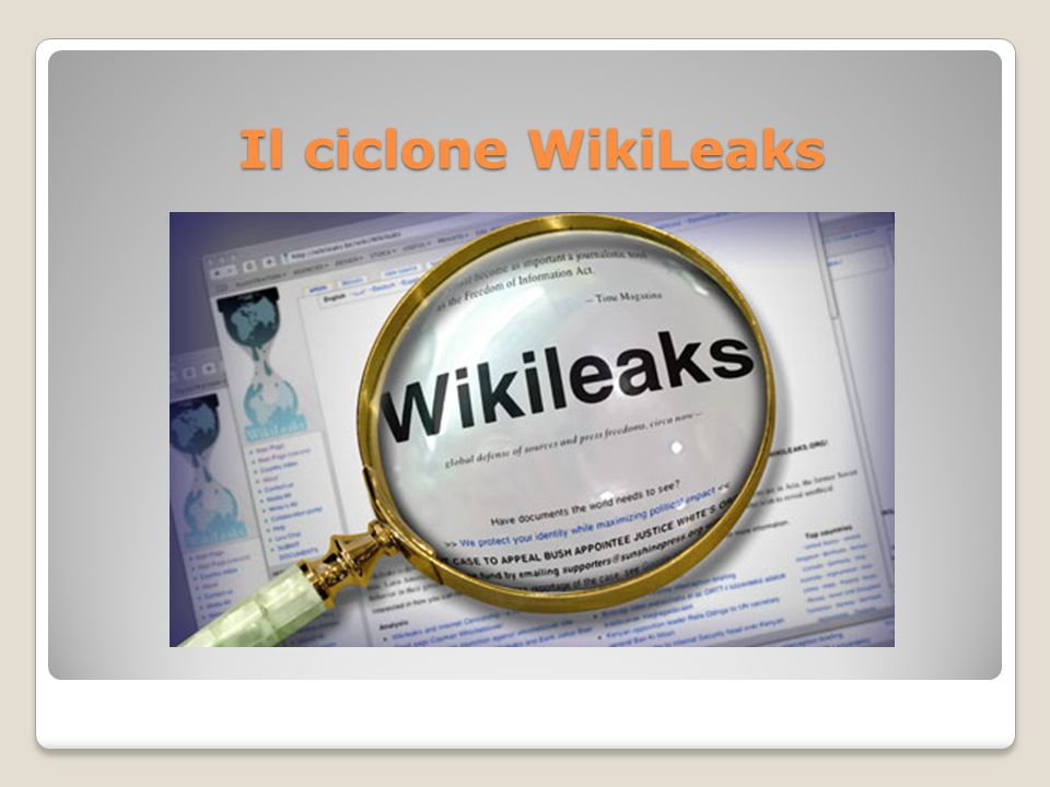 Il ciclone WikiLeaks