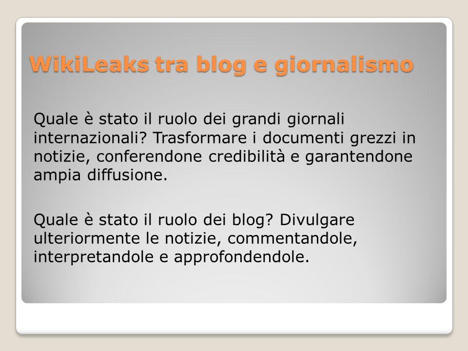 WikiLeaks tra blog e giornalismo