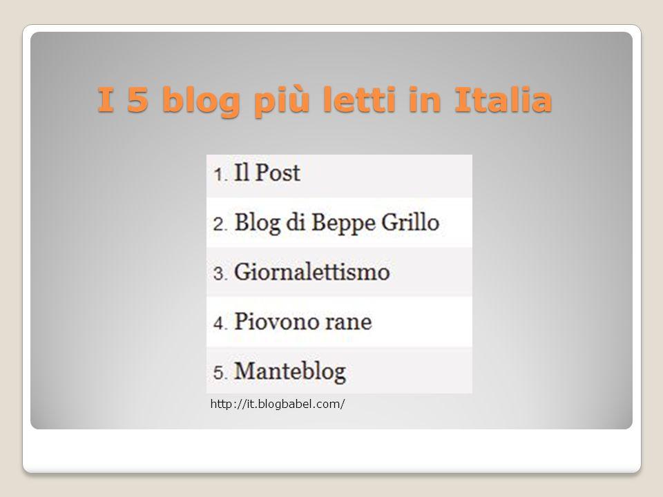 I 5 blog più letti in Italia
