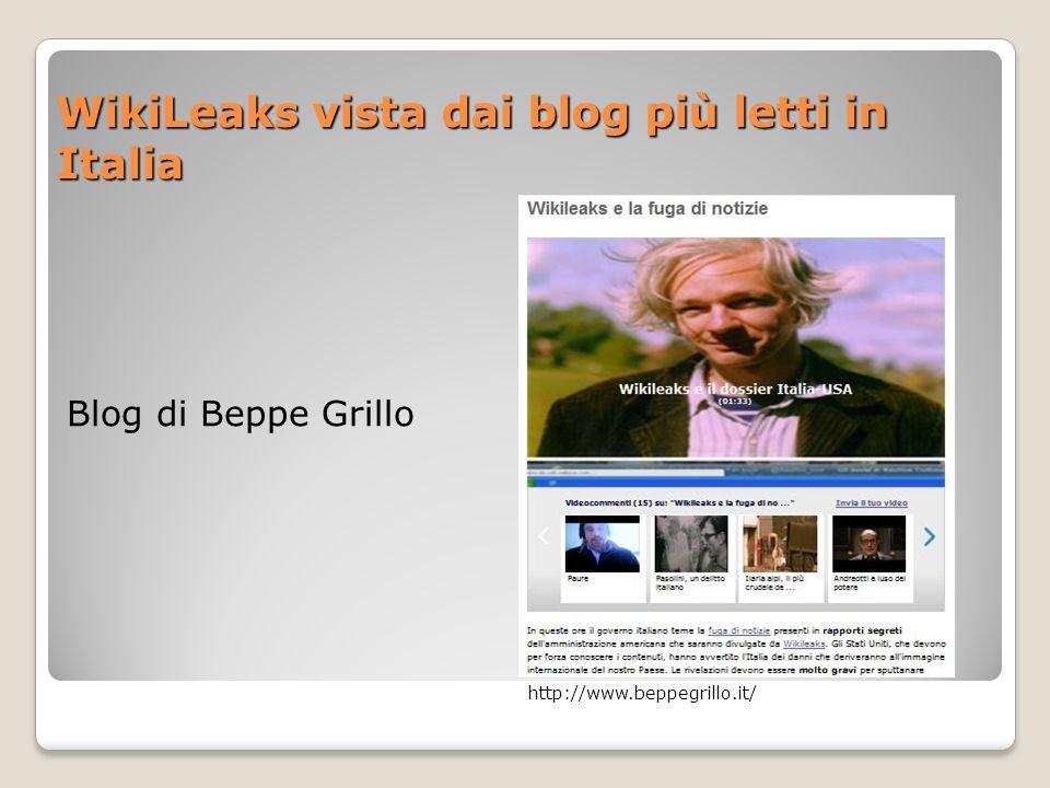 WikiLeaks vista dai blog più letti in Italia