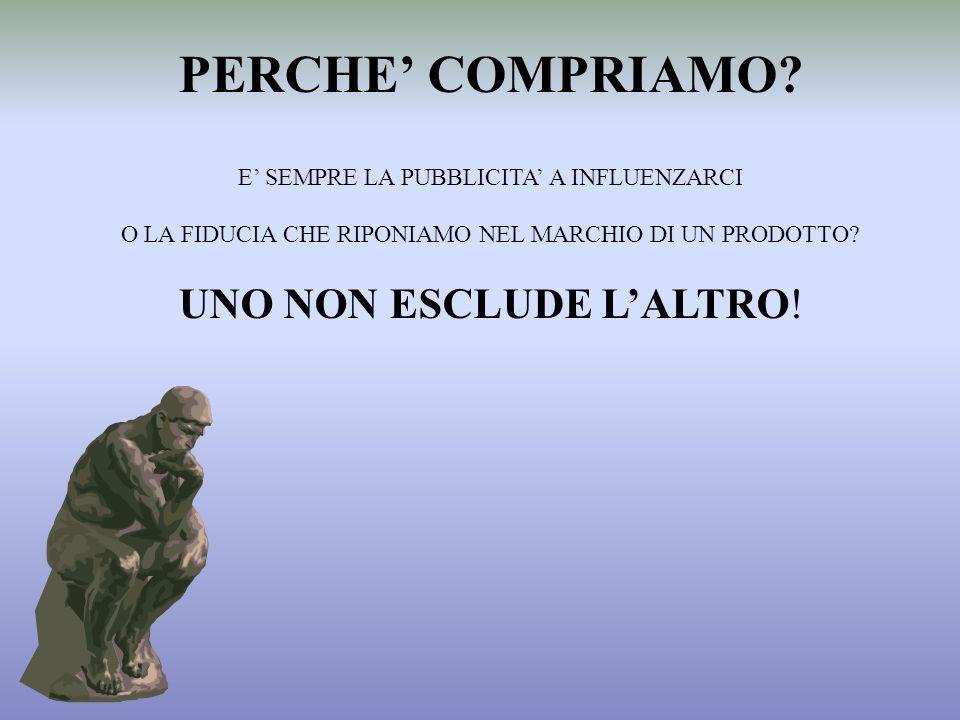 PERCHE' COMPRIAMO UNO NON ESCLUDE L'ALTRO!
