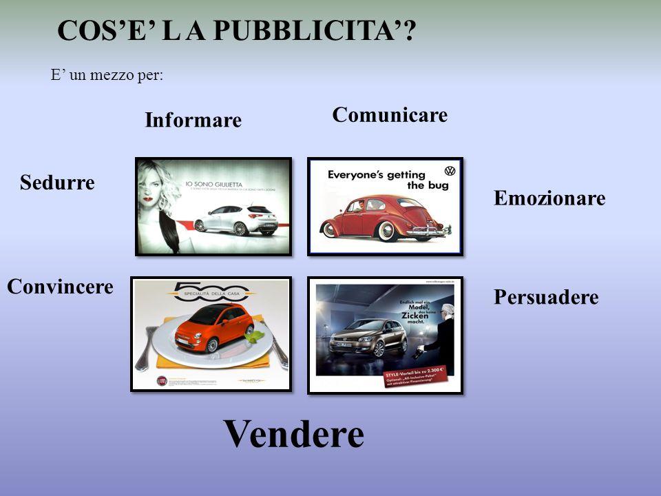 Vendere COS'E' L A PUBBLICITA' Comunicare Informare Sedurre
