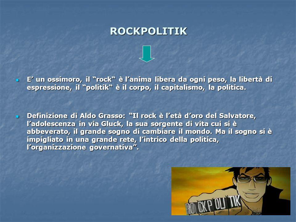 ROCKPOLITIK E' un ossimoro, il rock è l'anima libera da ogni peso, la libertà di espressione, il politik è il corpo, il capitalismo, la politica.