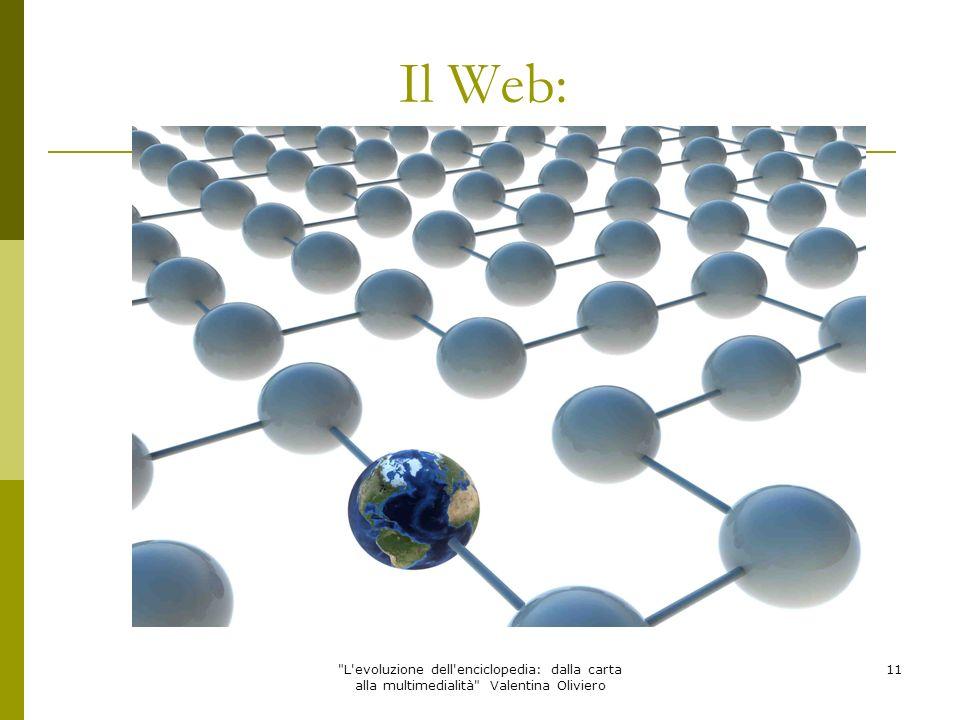 Il Web: L evoluzione dell enciclopedia: dalla carta alla multimedialità Valentina Oliviero