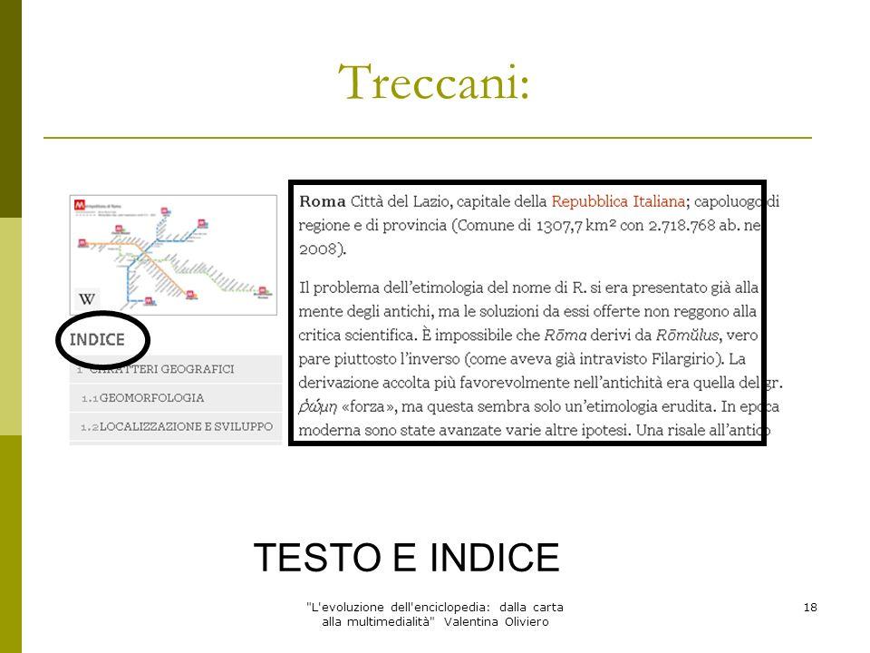 Treccani: TESTO E INDICE