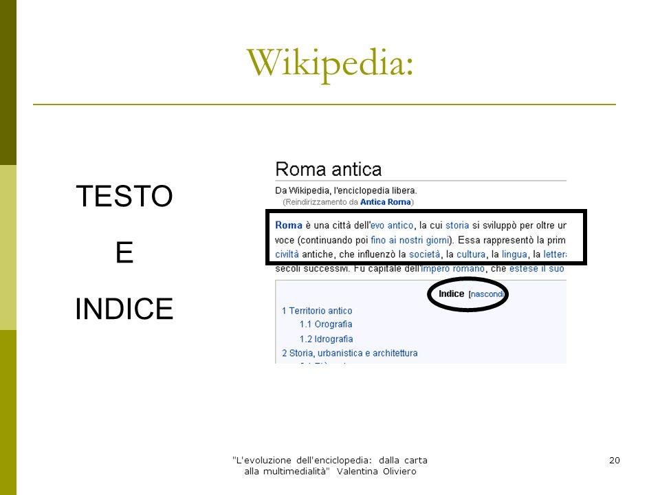 Wikipedia: TESTO E INDICE