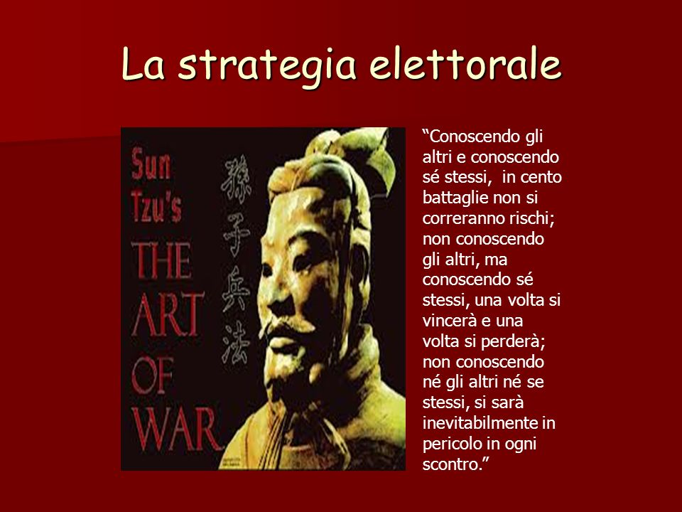 La strategia elettorale