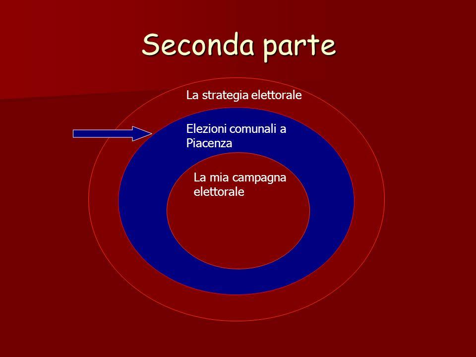Seconda parte La strategia elettorale Elezioni comunali a Piacenza