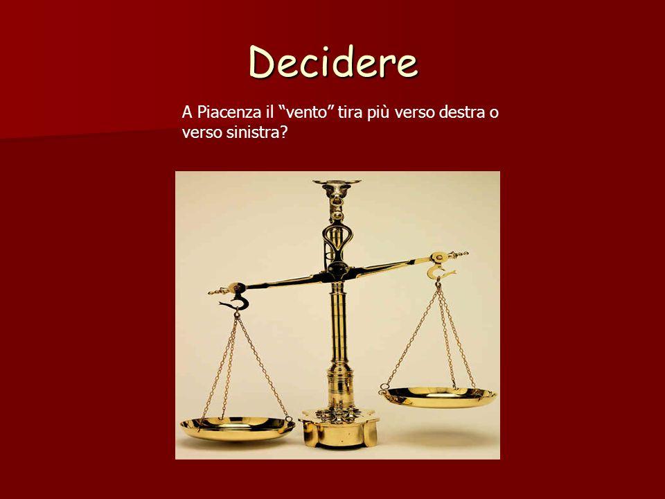 Decidere A Piacenza il vento tira più verso destra o verso sinistra