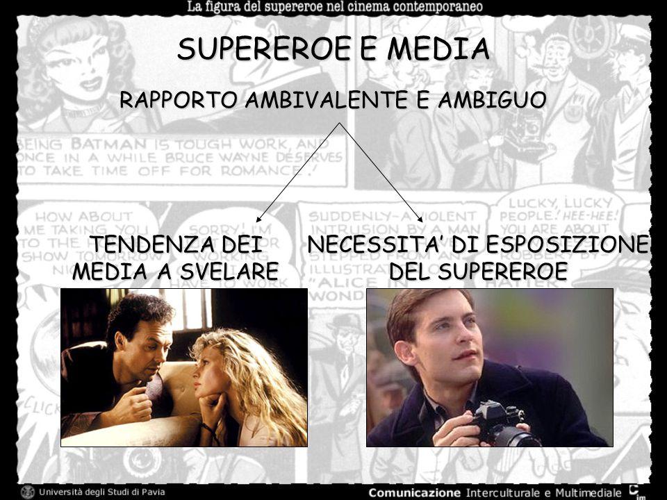 SUPEREROE E MEDIA RAPPORTO AMBIVALENTE E AMBIGUO