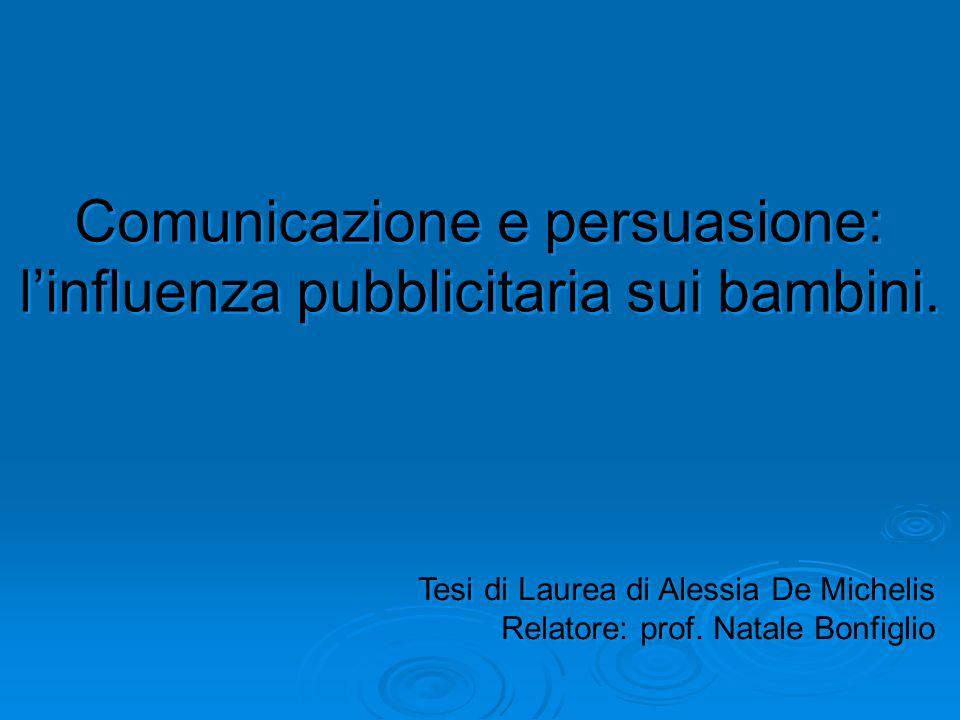 Comunicazione e persuasione: l'influenza pubblicitaria sui bambini.