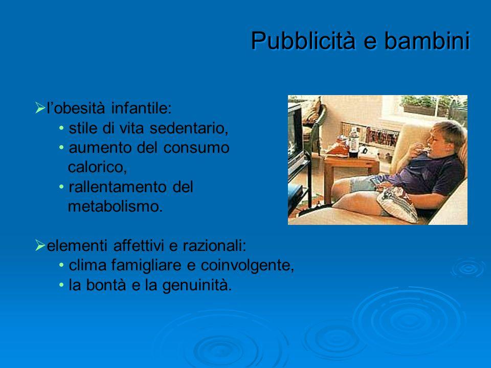 Pubblicità e bambini l'obesità infantile: stile di vita sedentario,