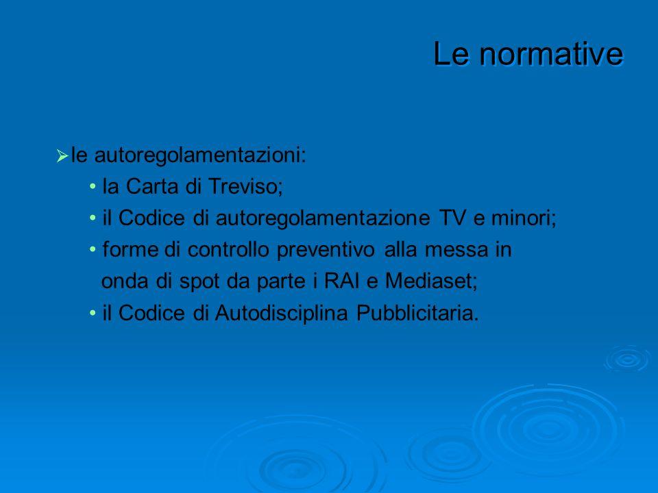 Le normative le autoregolamentazioni: la Carta di Treviso;