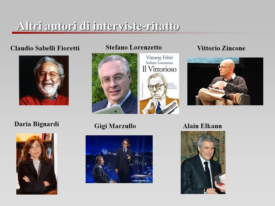 Altri autori di interviste-ritatto