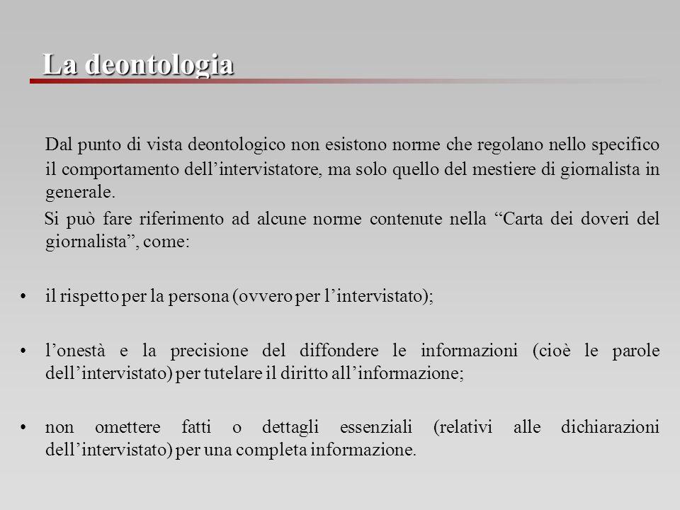 La deontologia