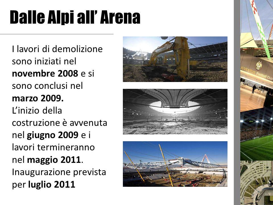 Dalle Alpi all' Arena I lavori di demolizione sono iniziati nel novembre 2008 e si sono conclusi nel marzo 2009.