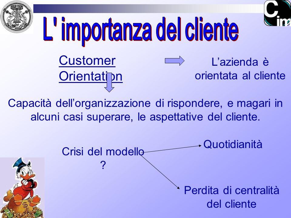 L importanza del cliente