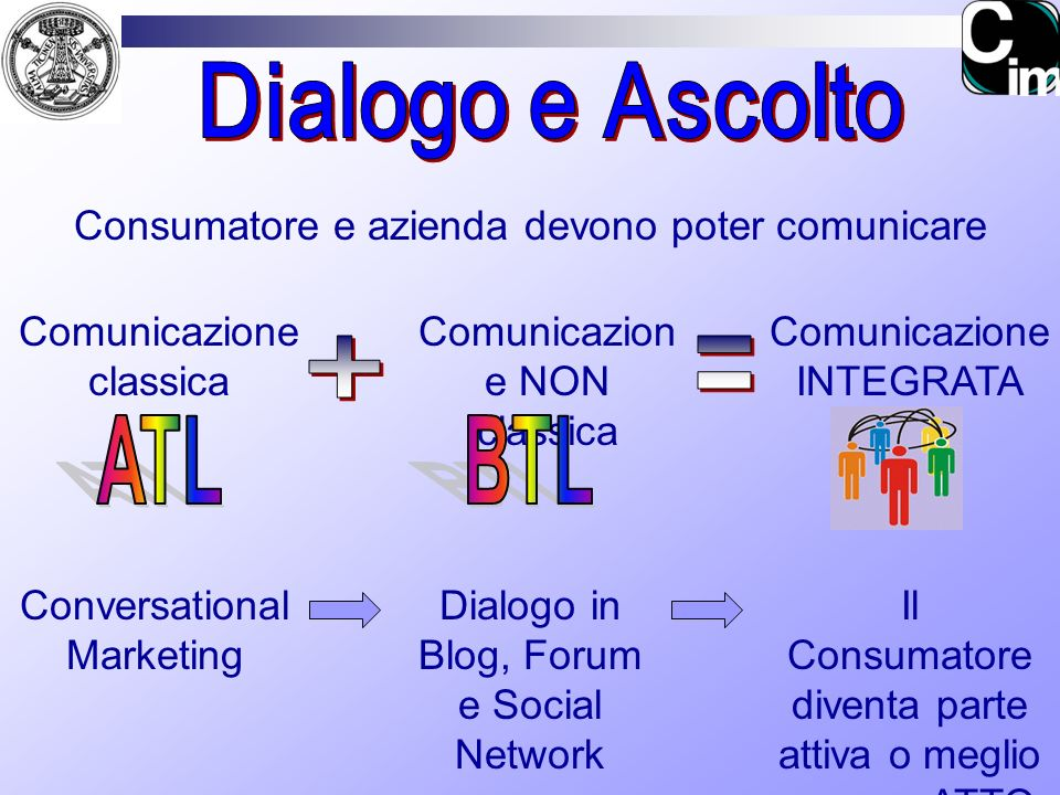 ATL BTL Dialogo e Ascolto + =