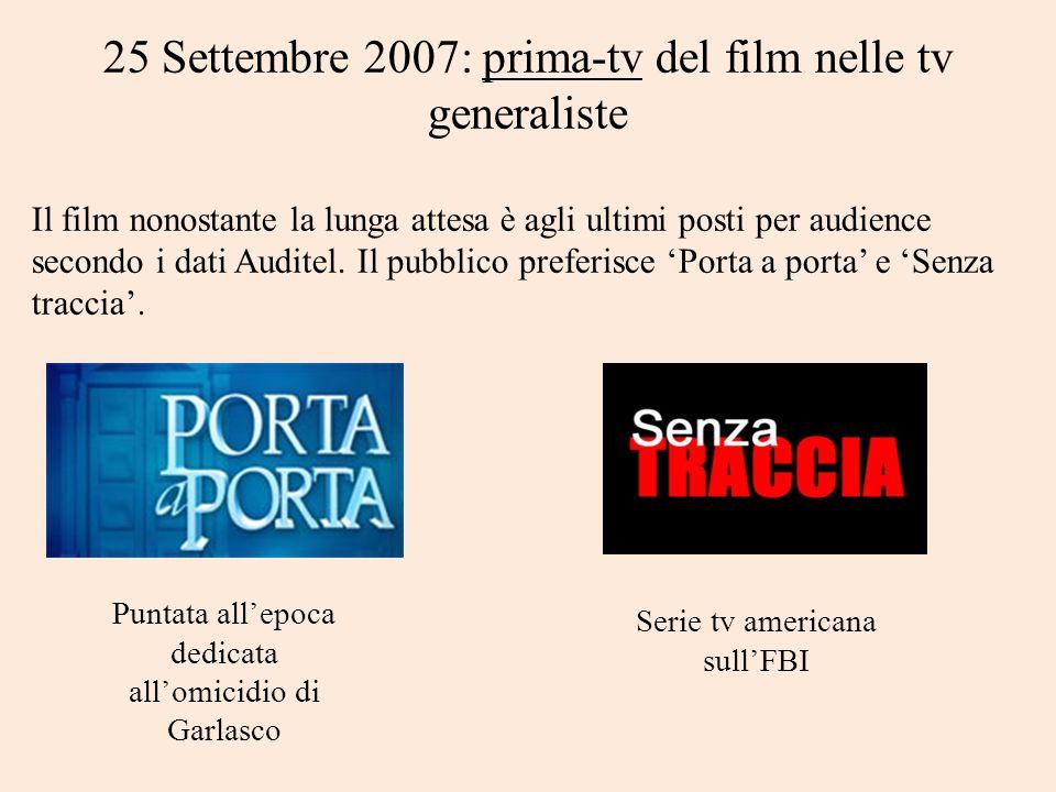 25 Settembre 2007: prima-tv del film nelle tv generaliste