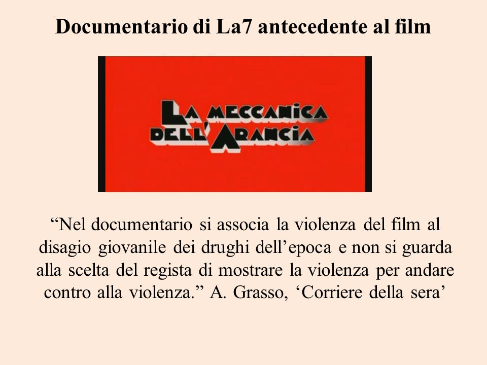 Documentario di La7 antecedente al film
