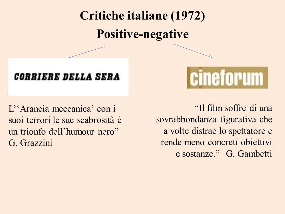 Critiche italiane (1972) Positive-negative