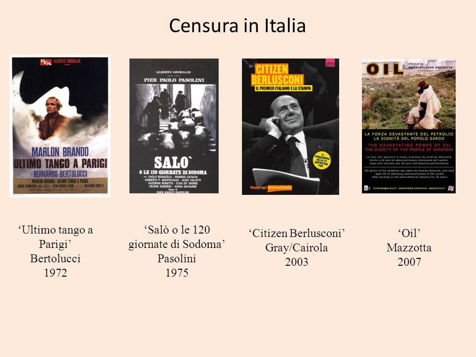 Censura in Italia 'Ultimo tango a Parigi' Bertolucci 1972