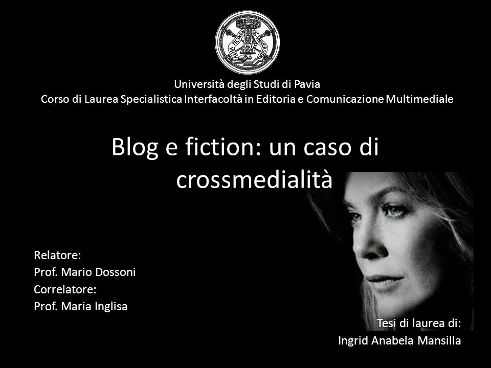 Blog e fiction: un caso di crossmedialità