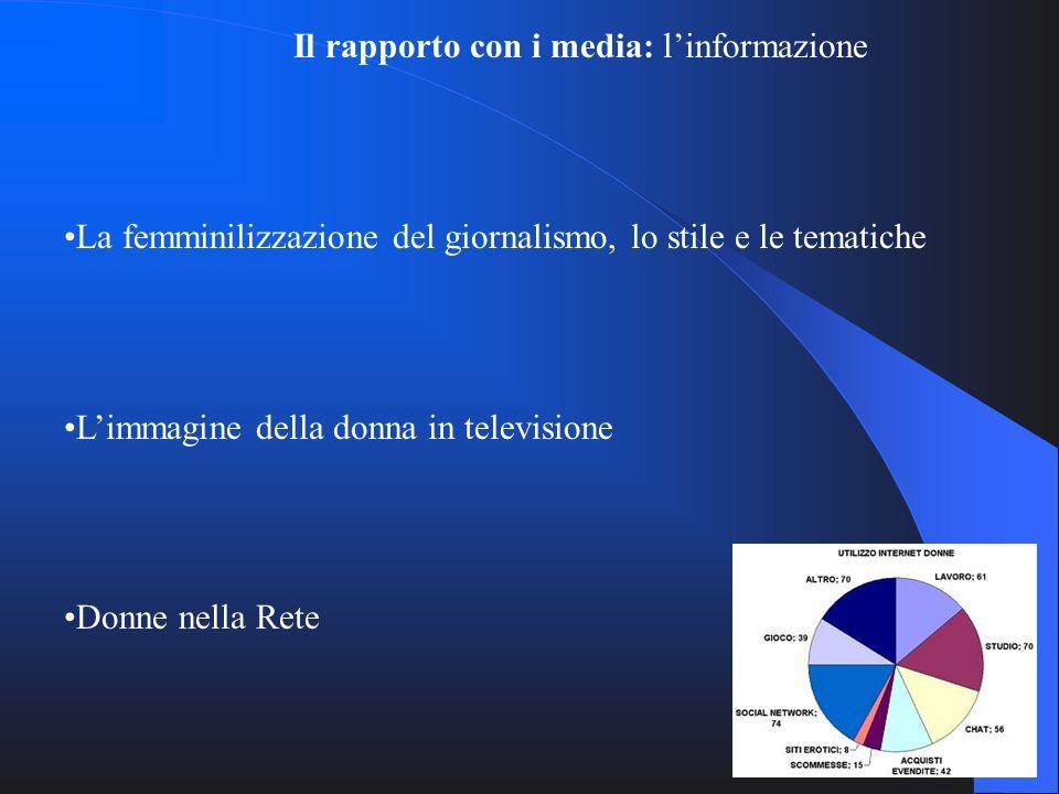 Il rapporto con i media: l'informazione