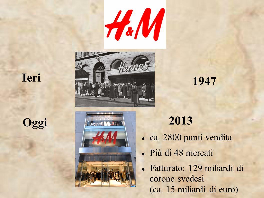 1947 Ieri Oggi 2013 ca. 2800 punti vendita Più di 48 mercati