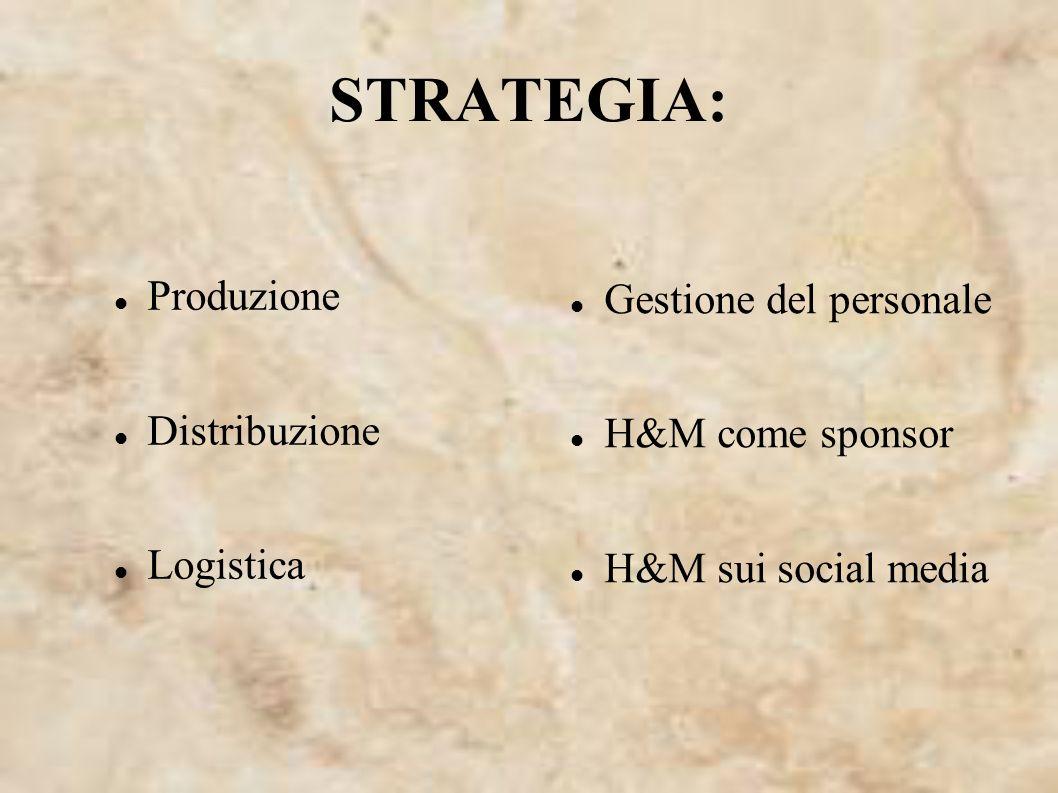 STRATEGIA: Produzione Gestione del personale Distribuzione