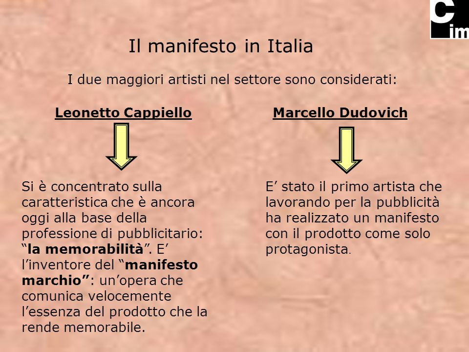 I due maggiori artisti nel settore sono considerati:
