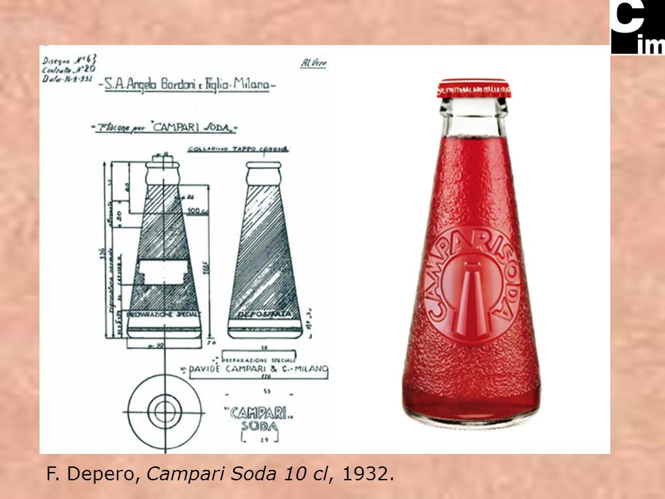 F. Depero, Campari Soda 10 cl, 1932.
