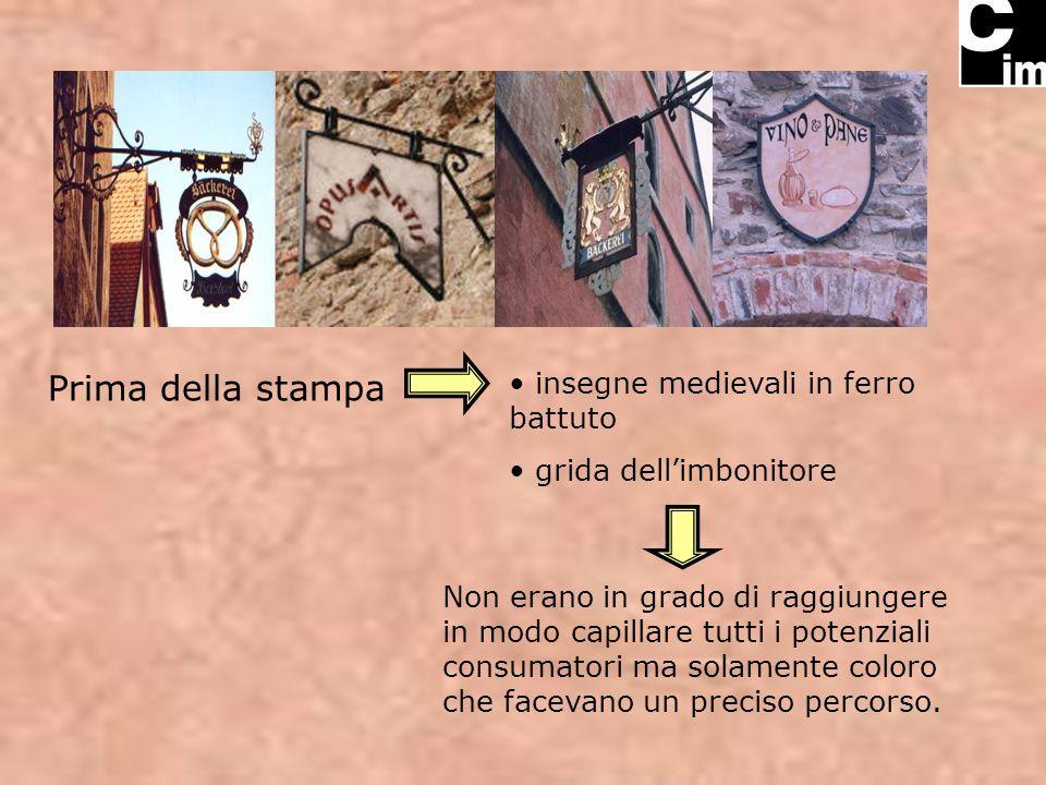 Prima della stampa insegne medievali in ferro battuto