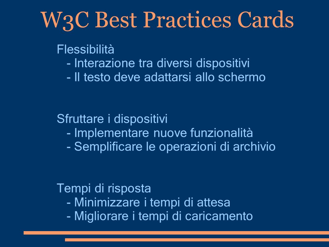 W3C Best Practices Cards