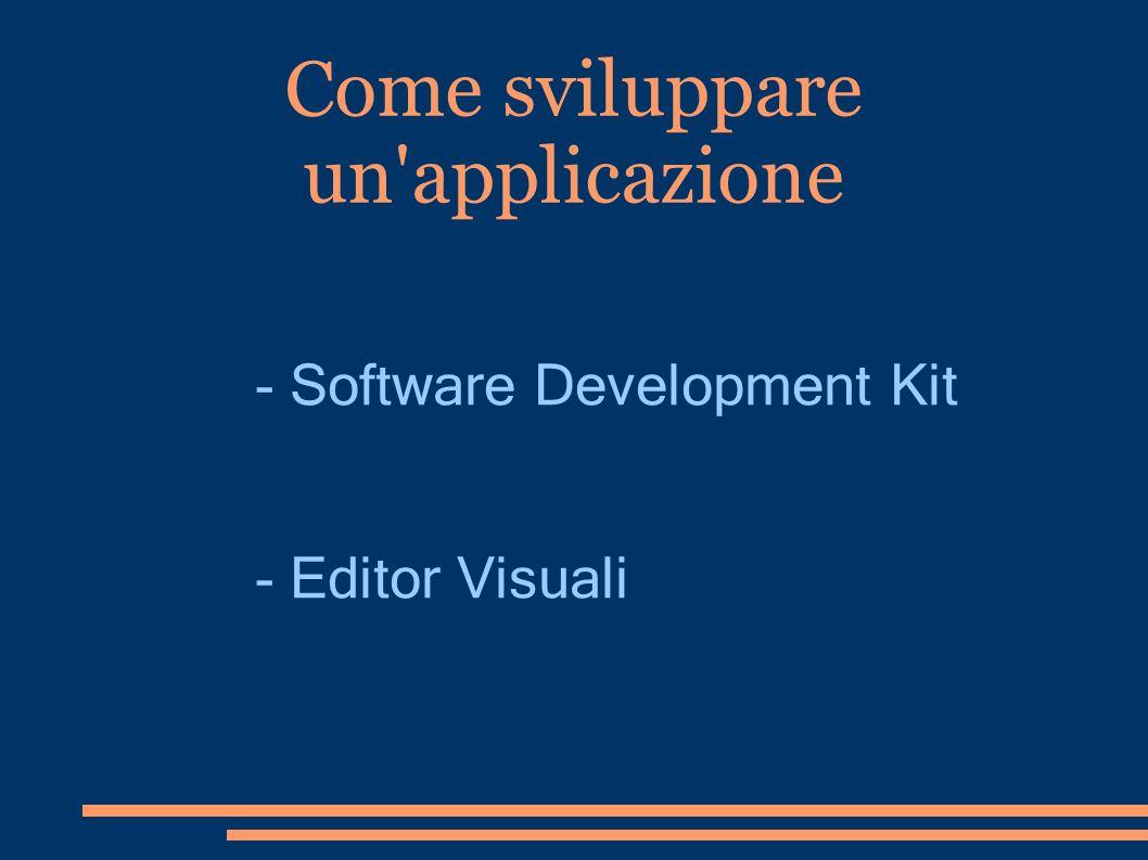 Come sviluppare un applicazione