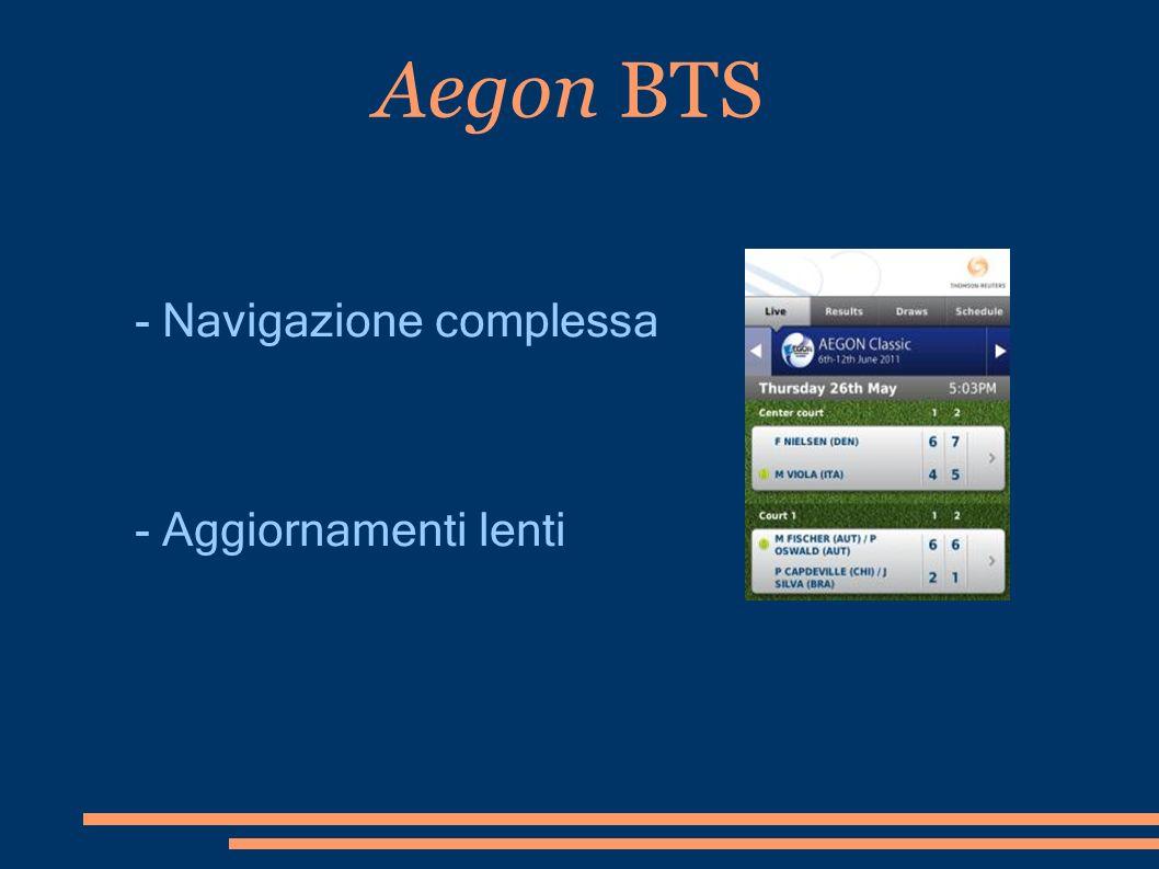 Aegon BTS - Navigazione complessa - Aggiornamenti lenti