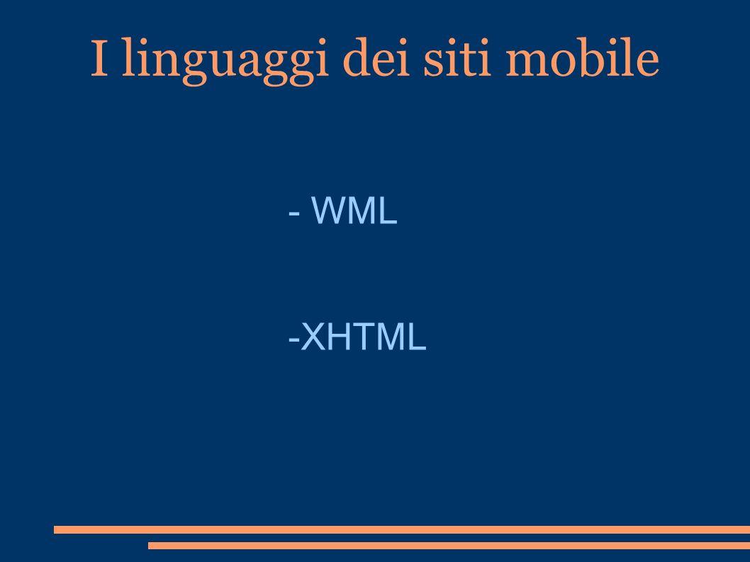 I linguaggi dei siti mobile