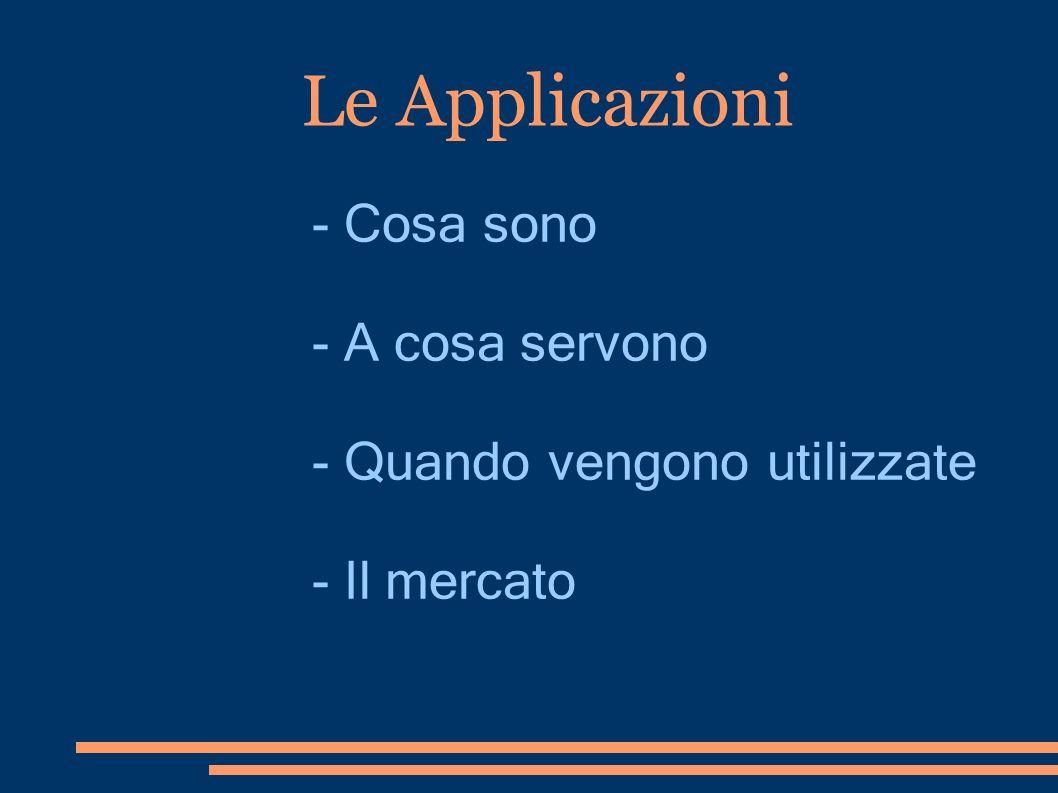 Le Applicazioni - Cosa sono - A cosa servono