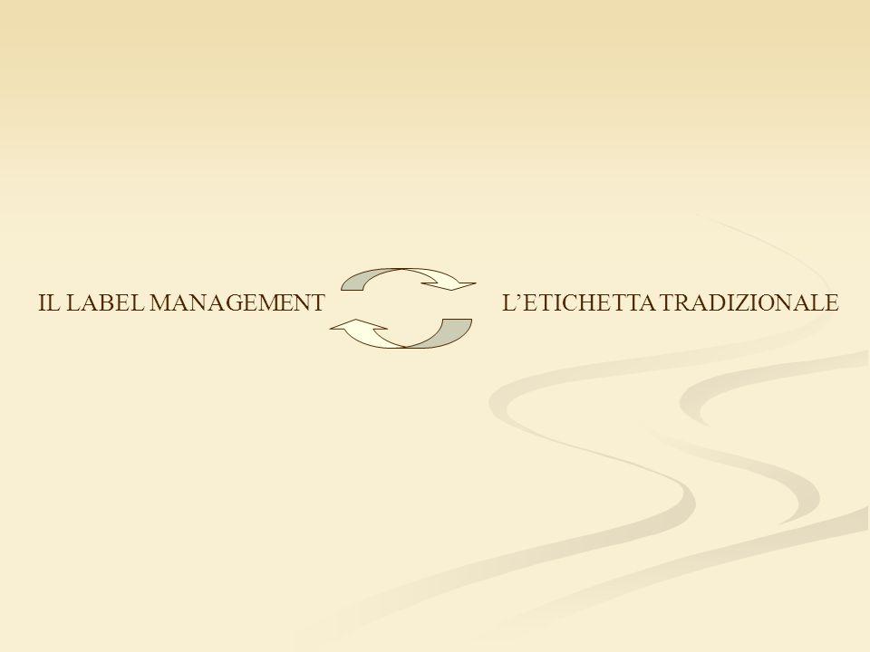 IL LABEL MANAGEMENT L'ETICHETTA TRADIZIONALE