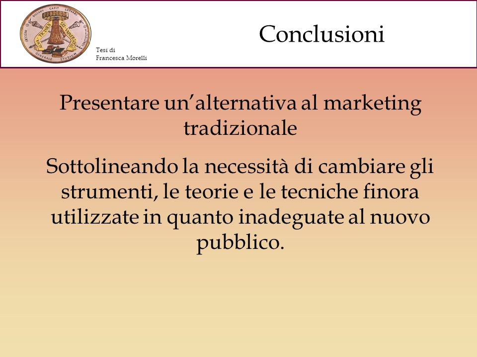 Presentare un'alternativa al marketing tradizionale