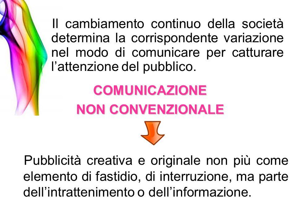 Il cambiamento continuo della società determina la corrispondente variazione nel modo di comunicare per catturare l'attenzione del pubblico.