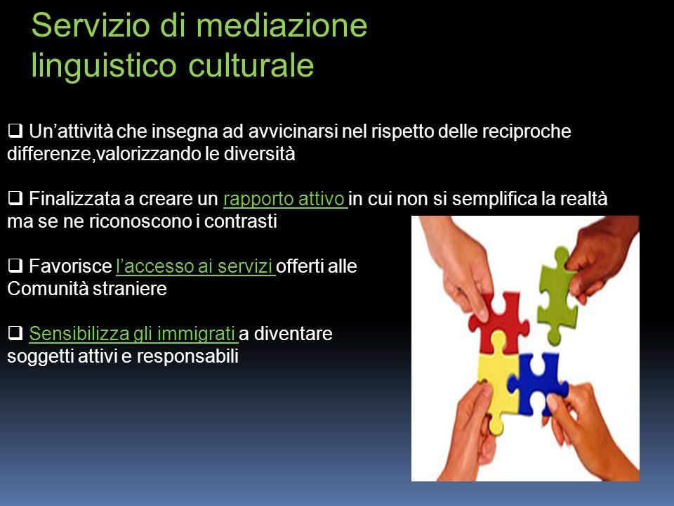 Servizio di mediazione linguistico culturale