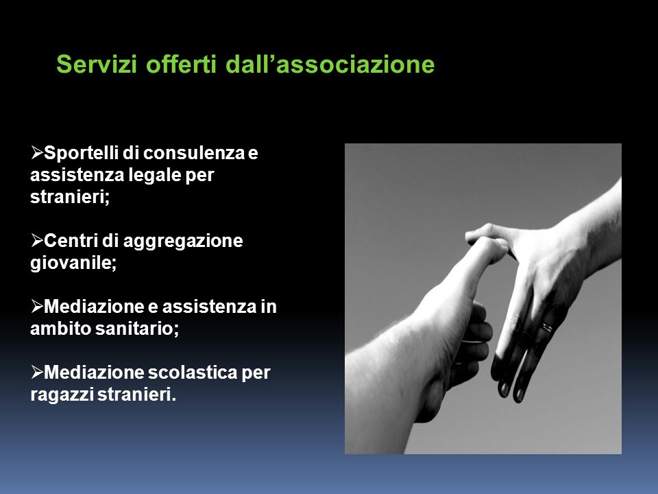 Servizi offerti dall'associazione