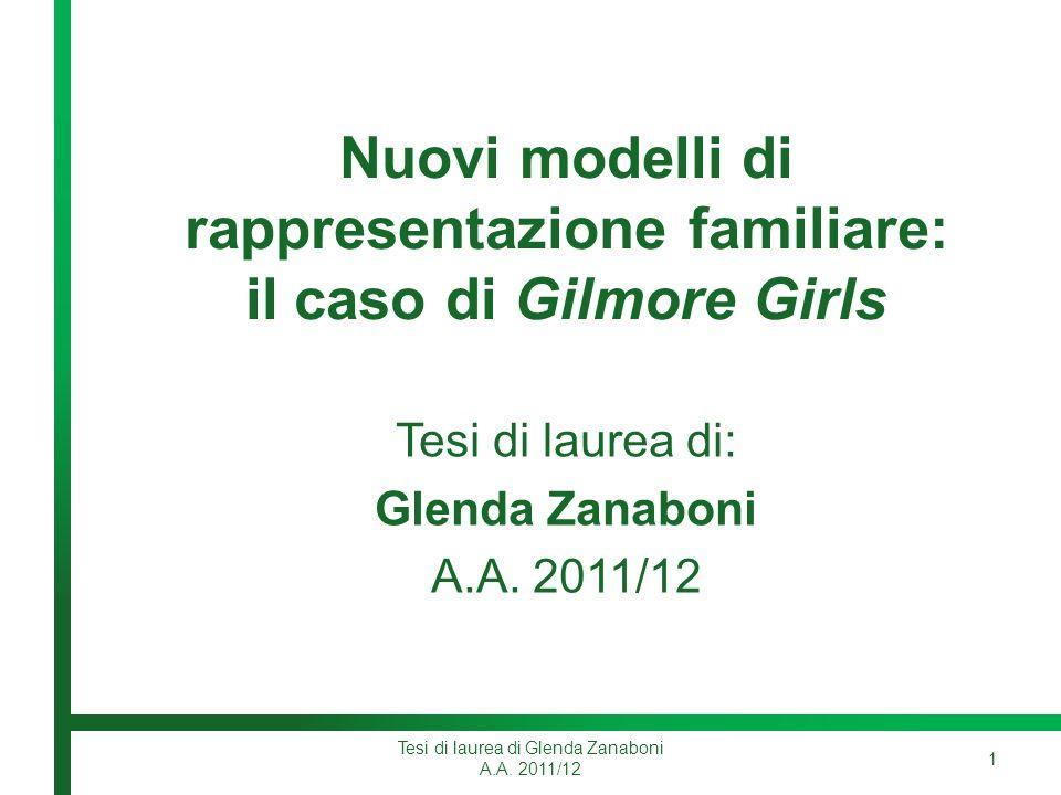 Nuovi modelli di rappresentazione familiare: il caso di Gilmore Girls