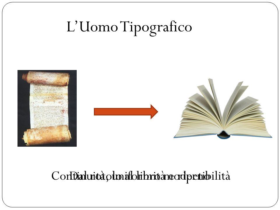 L'Uomo Tipografico Continuità, uniformità e ripetibilità