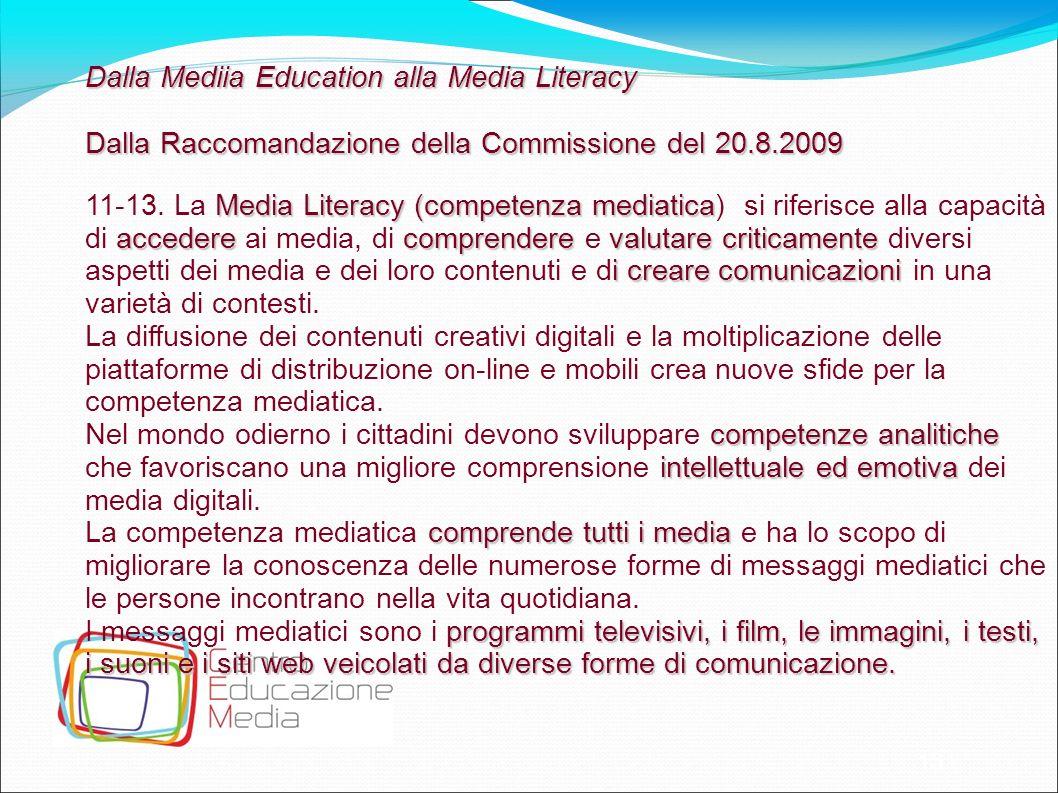 Dalla Mediia Education alla Media Literacy