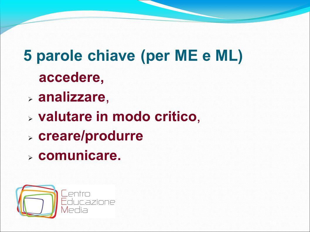 5 parole chiave (per ME e ML)